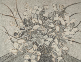 Floral Bouquet # Seven in warm Gray